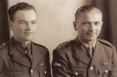 Jan Kubis and Jozef Gabcik, 1941. Heroes of Operation Anthropoid to kill Reinhard Heydrich