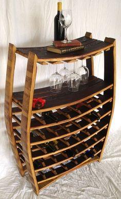 wine barrel wine rack: