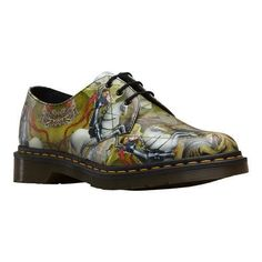 1629dc79480d Dr. Martens Back to Basics 1461 Eye Gibson Oxford George   Dragon Print  Backhand Dr