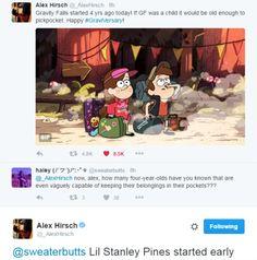 This is why I love Gravity Falls and Alex Hirsch Gravity Falls Funny, Gravity Falls Comics, Disney And Dreamworks, Disney Pixar, Fall Tumblr, Alex Hirsch, Fall Memes, Reverse Falls, Billdip