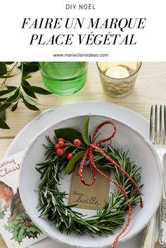 Faire un marque place végétal / DIY Noel / Christmas DIY