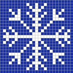 Crochet Candy Cane Pixel Square - Repeat Crafter Me (also many other pixel graph patterns for a Christmas or winter afghan) Crochet Pixel, Graph Crochet, C2c Crochet, Blanket Crochet, Crochet Squares, Snowflake Quilt, Crochet Snowflakes, Snowflake Stencil, Snowflakes Art