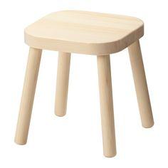 IKEA - FLISAT, Børnetaburet, , Fremstillet af massivt træ.Nem at samle uden værktøj eller skruer.
