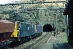 A train about to enter the western portal of Woodhead 3, shortly before closure in 1981