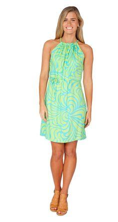 Escapada Living | Sleeveless Alice Dress in Aqua Celery Grenada #StPatricksDay