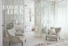 Neisha Crosland's London Home....LOVE those glass doors!