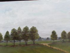 French Landscape. Painted from my photograph from 2008 Europe trip. Oil on canvas.
