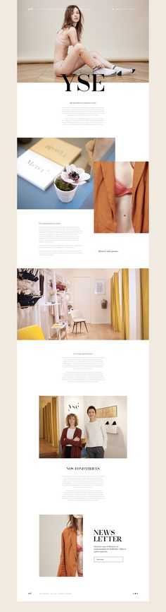 Ysé - Website on Behance || With parallax effects it could be really awesome