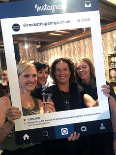 Lucy St George and friends with the Instagram frame at the Rockett St George Housewarming Launch Party at Liberty London #rockettstgeorge #liberty #london #libertylondon #launch #event #housewarming #city #rsg #interiors #interior #homeware #home #house #inspiration #customer #party #cocktails #alcohol #glitter