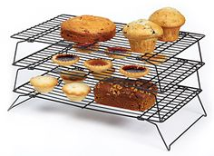 KitchenCraft Non-Stick Three Tier Cooling Rack Bakers Kitchen, Kitchen Craft, Kitchen Essentials, Kitchenware, Muffin, Baking, Breakfast, Cake, Crafts