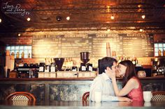 Ignore the kissing, and look at how beautiful this coffee shop is.