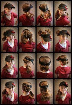 Girly Dos By Jenn: Visor Hat Hair Ideas
