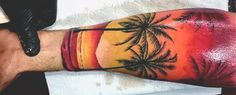 Discover the vibrant detail found in these top 90 best sunset tattoos for men. Explore cool fading daylight sky design ideas and masculine ink inspiration.