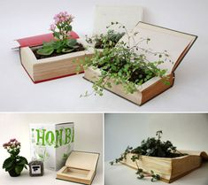 10 Creative and Unusual Book Inspired Designs -- some using books, some for use with books