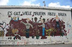 East Side Gallery Berlin longest piece. art