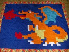 Pokemon Charizard Quilt Top! - QUILTING