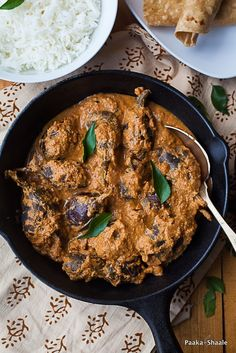 Egg plant in cashew coconut sauce. Eggplants cannot taste any better than this.
