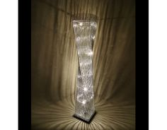 Silver Cayan Tower Floor Lamp; £119