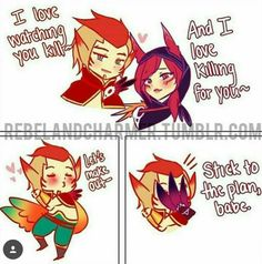 Xayah and Rakan | Let's make out lol