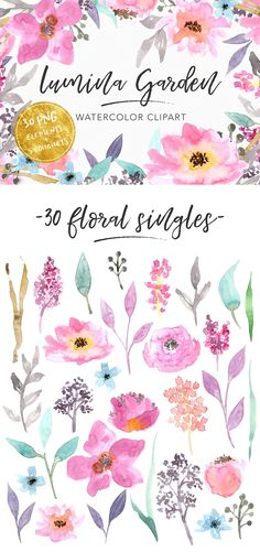 Gorgeous florals I used in my Free Digital Scrapbooking Journaling Printable Pack