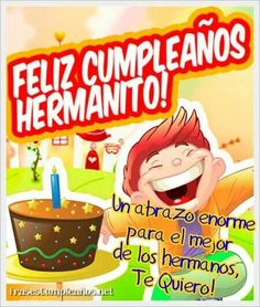 We continue adding new models of free birthday cards, and in this case … - Modern Happy Birthday In Spanish, Happy Birthday Notes, Free Birthday Card, Happy Birthday Brother, Birthday Messages, Birthday Greetings, Birthday Wishes, Birthday Quotes, Anniversary Cards For Him