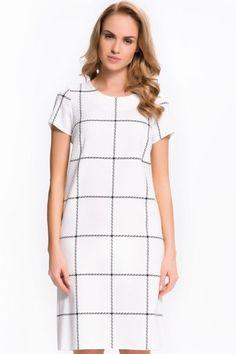 Sukienka w kratę LM20306