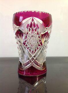 Vase du Val Saint Lambert Taille riche de 1900-1910