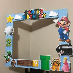 Super mario photo booth frame prop
