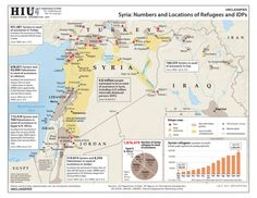 #Syria: Numbers and Locations of #Refugees and #IDPs (as of 31 July 2013)