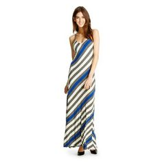 Blue and grey striped maxi dress This is a beautiful dress! So light and comfy! Worn once and in excellent condition! Mossimo Supply Co Dresses Maxi