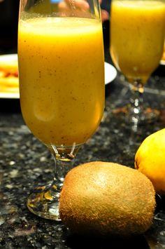 Passion, suco de kiwi e maracujá #mix #sucos #love #sabores