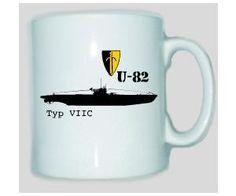 Tasse U-82 Typ VIIC / mehr Infos auf: www.Guntia-Militaria-Shop.de