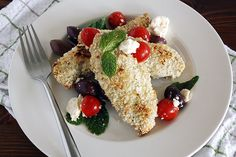 greek chicken with feta, olives + tomatoes. // Girl Versus Dough by girlversusdough, via Flickr