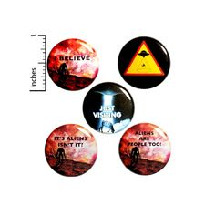 Funny Alien Button 5 Pack of Backpack Pins Brooches I Believe Alien Abduction Sci-Fi Humor Badges Lapel Pins Gift Set 1 Funny Buttons, Cool Buttons, Aliens Funny, Jacket Pins, Alien Abduction, Work Gifts, Lapel Pins, Small Gifts, Boyfriend Gifts