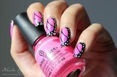 Neon Butterfly Wings. | Nailpolish and nailart | Pinterest