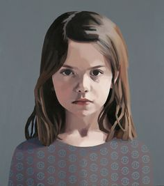 Portrait by Claerwen James Beautifully focuses on the child's deep intensity by having the background and dress recede.