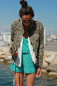 Love this jumpsuit and how it's layered!