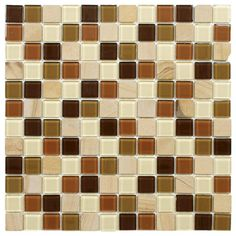 Merola Tile Spectrum Square Kalamata 11-1/2 in. x 11-1/2 in. x 4 mm Glass and Stone Mosaic Wall Tile-GSHSSQKM - The Home Depot