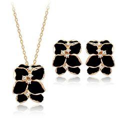Black Jewelry Set