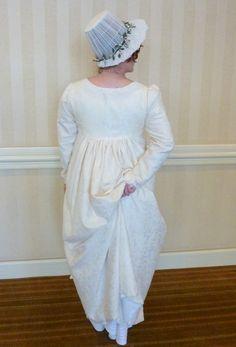 Gina White and her fabulous Elizabeth Bennet wedding dress wedgie! Elizabeth Bennet, Regency, Bridal Shower, Flower Girl Dresses, Poses, Costumes, My Style, Wedding Dresses, Lady