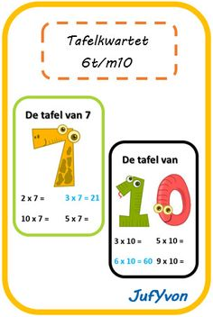 ©JufYvon: Tafelkwartet 6 t/m 10 Summer School, Pre School, Fun Learning, Learning Activities, Too Cool For School, Play To Learn, Math Classroom, Primary School, Teaching Math