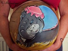One of my favorite stories - Baby Dumbo belly painting Face Painting Shop, Bump Painting, Painting Flowers, Painting Art, Tinta Facial, Pregnancy Tattoo, Pregnancy Art, Pregnancy Belly, Pregnancy Photos
