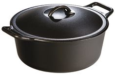 Lodge Pro-Logic P12D3 Cast Iron Dutch Oven, Black, 7-Quart *** Read more reviews of the product by visiting the link on the image.