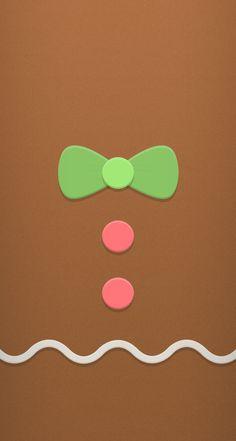Gingerbread iPhone Wallpaper