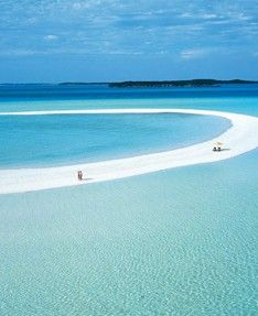 Exuma, Bahamas --  LOVE this place!  Walked around the big circle