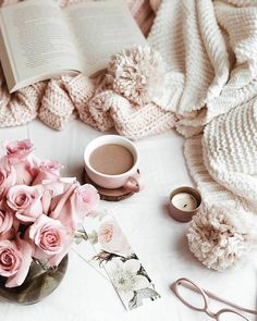 Don't worry! The pink is back! Pink is my theme. It's not going anywhere. Sometimes I just like to post something a little different. Flat Lay Photography, Coffee Photography, Photography Flowers, Coffee And Books, I Love Coffee, Pic Tumblr, Parfum Chanel, Tout Rose, Pause Café