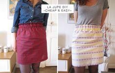 DIY – la jupe super facile pour les novices en couture ! – Lucette et Suzette