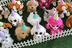 Pink and yellow puppy birthday party | Puppy Adoption Party Favors