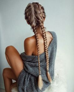 Majestically Long and beautiful blonde French Braids