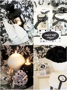Birds Party Blog: New Years Eve Party Ideas: A Black & White Glitter and Snow Party!